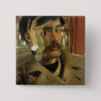 Self portrait, c.1865 button