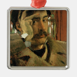 Self portrait, c.1865 metal ornament