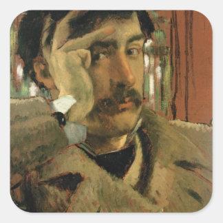 Self portrait, c.1865 square sticker