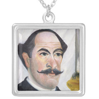Self portrait, c.1900-03 silver plated necklace