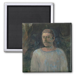 Self portrait, close to Golgotha, 1896 (oil on can 2 Inch Square Magnet