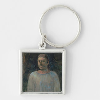 Self portrait, close to Golgotha, 1896 (oil on can Key Chain