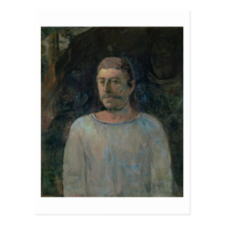 Self portrait, close to Golgotha, 1896 (oil on can Postcard