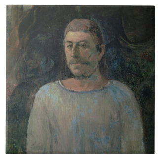 Self portrait, close to Golgotha, 1896 (oil on can Tile