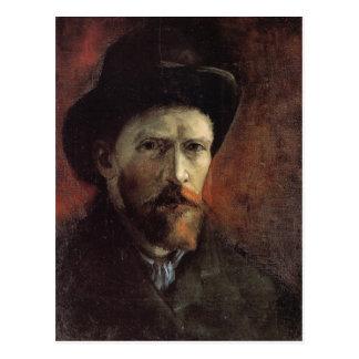 Self-Portrait, Dark Felt Hat, Vincent van Gogh Postcard
