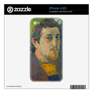 Self Portrait dedicated to Carriere, 1888-1889 Skin For iPhone 4S