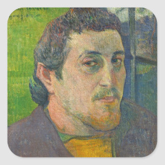 Self Portrait dedicated to Carriere, 1888-1889 Square Sticker
