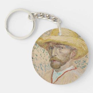 Self-portrait Double-Sided Round Acrylic Keychain