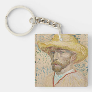 Self-portrait Double-Sided Square Acrylic Keychain