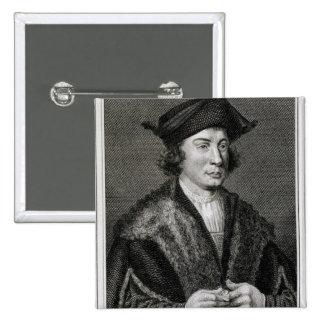 Self Portrait, engraved by J. Corner (engraving) Pinback Button