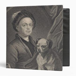 Self Portrait, engraved by J. Mollison 3 Ring Binder