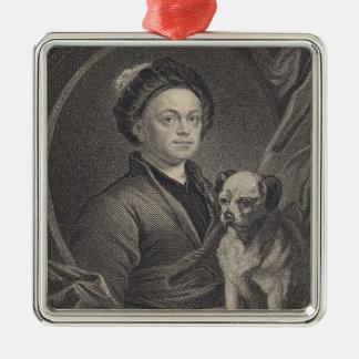 Self Portrait, engraved by J. Mollison Metal Ornament