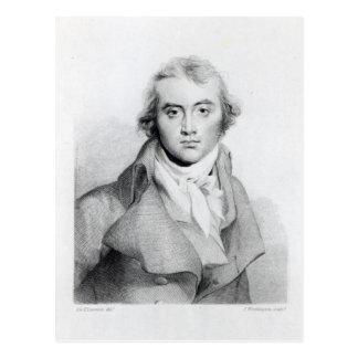 Self Portrait, engraved by J. Worthington Postcard