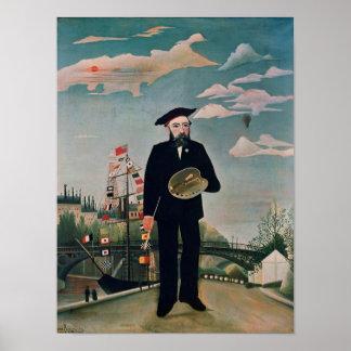 Self Portrait, from L'ile Saint-Louis, 1890 Poster