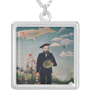 Self Portrait, from L'ile Saint-Louis, 1890 Silver Plated Necklace