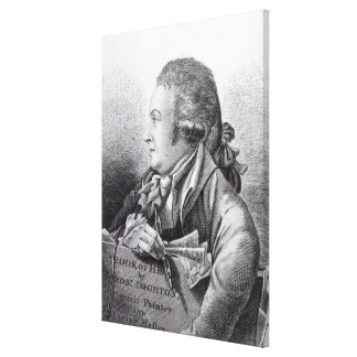 Self Portrait, frontispiece to his 'Book of Canvas Print