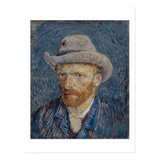 Self-Portrait Grey Felt Hat, Van Gogh Fine Art Postcard