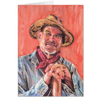 Self Portrait, Homage to Vincent card