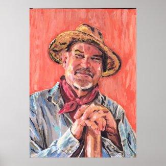 Self Portrait, Homage to Vincent print