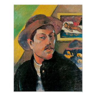 Self Portrait in a Hat, 1893-94 Poster