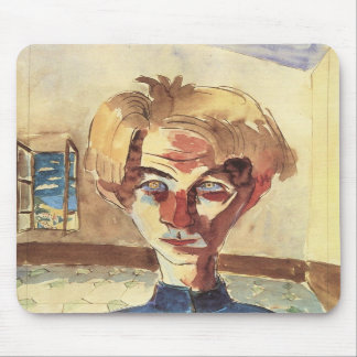 Self Portrait in a room by Walter Gramatte Mouse Pad