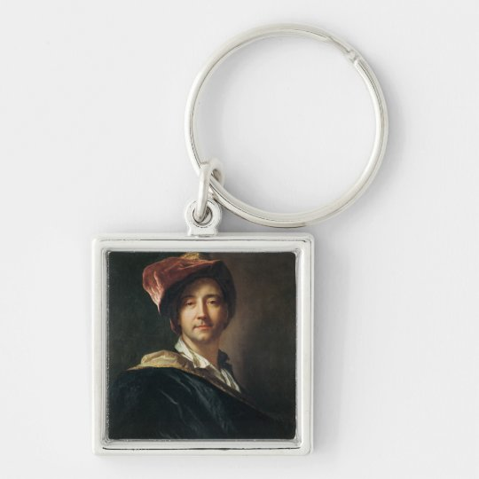 Self Portrait in a Turban, 1700 Keychain