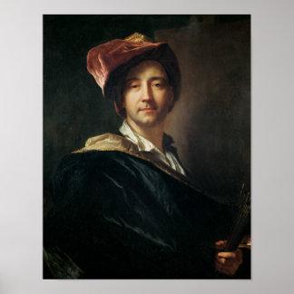 Self Portrait in a Turban, 1700 Poster