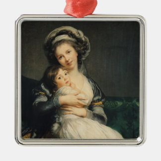Self portrait in a Turban with her Child, 1786 Metal Ornament