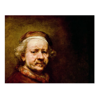 Self Portrait in at the Age of 63, 1669 Postcard