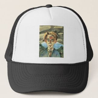 Self Portrait in Barcelona by Walter Gramatte Trucker Hat