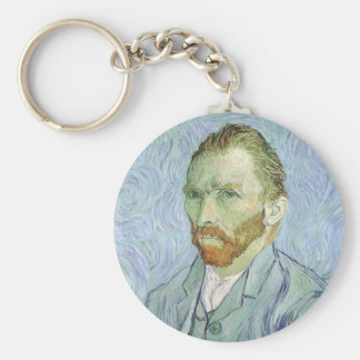 Self Portrait in Blue by Vincent van Gogh Keychain