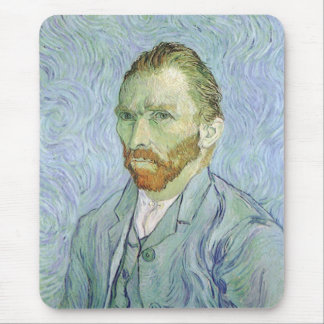 Self Portrait in Blue by Vincent van Gogh Mouse Pad