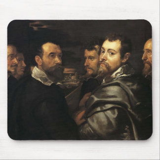 Self-Portrait in Circle of Friends by Peter Rubens Mouse Pads