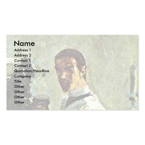 Self-Portrait In Front Of A Mirror Double-Sided Standard Business Cards (Pack Of 100)
