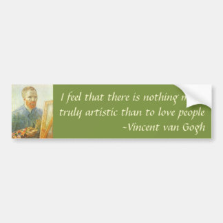 Self Portrait in Front of Easel, Vincent van Gogh Bumper Sticker