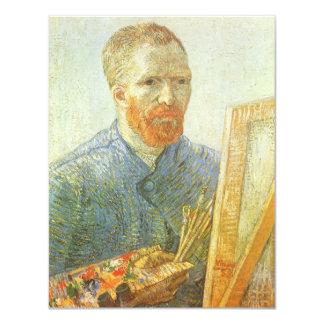 Self Portrait in Front of Easel, Vincent van Gogh Card
