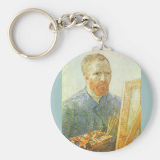 Self Portrait in Front of Easel, Vincent van Gogh Keychain