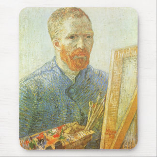 Self Portrait in Front of Easel, Vincent van Gogh Mouse Pad