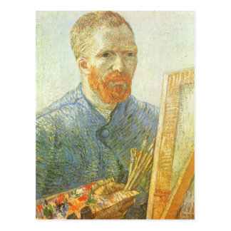 Self Portrait in Front of Easel; Vincent van Gogh Post Cards