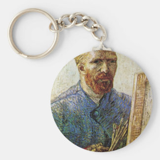 Self-Portrait in Front of the Easel by van Gogh Keychain