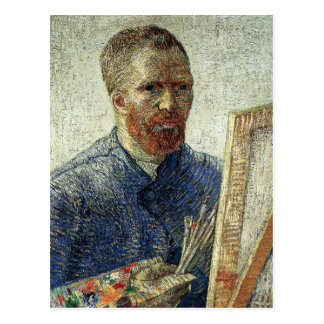 Self-Portrait in Front of the Easel Postcard