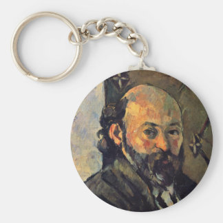 Self-Portrait In Front Olive-Green Wallpaper Key Chains
