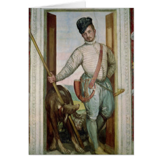 Self Portrait in Hunting Costume, 1562 Card