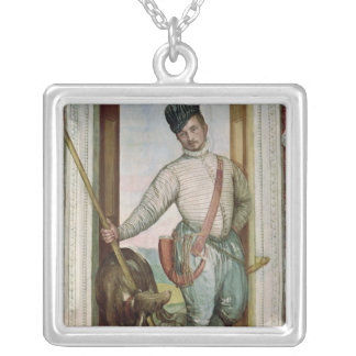 Self Portrait in Hunting Costume, 1562 Silver Plated Necklace