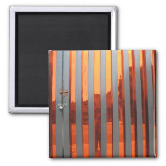 self portrait in orange 2 inch square magnet