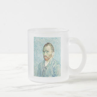 Self-Portrait in September of 1889 by Vincent Van 10 Oz Frosted Glass Coffee Mug