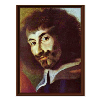 Self-Portrait In The Painting Of St. Charles Borro Postcard