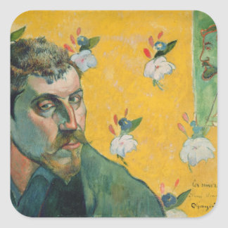Self Portrait, Les Miserables,1888 (oil on canvas) Square Sticker