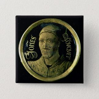 Self portrait medallion, c.1450 (enamel on copper) button