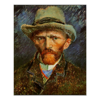 Self Portrait of 1887 by Vincent van Gogh Poster